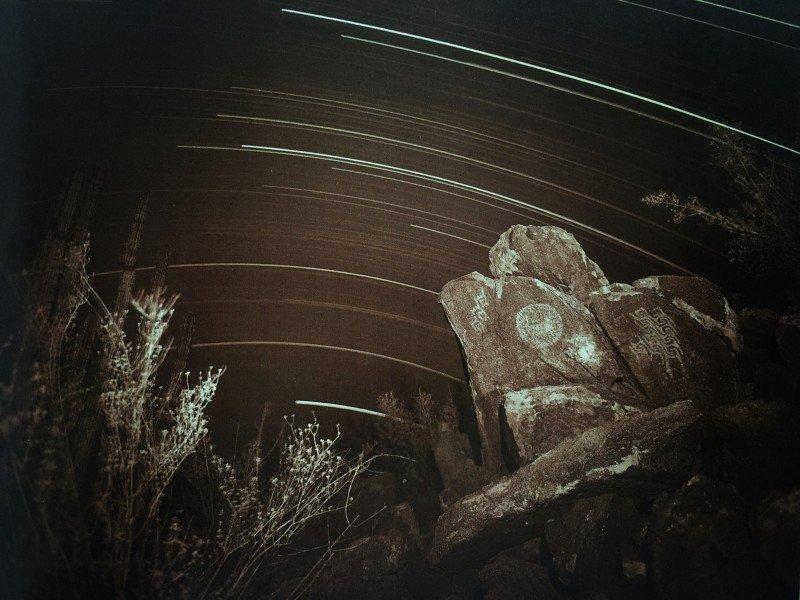 מריחת כוכבים בחשיפה של כמה שעות. צולם בפילם 1979. צלמת: קונור לינדה, מקסיקו.