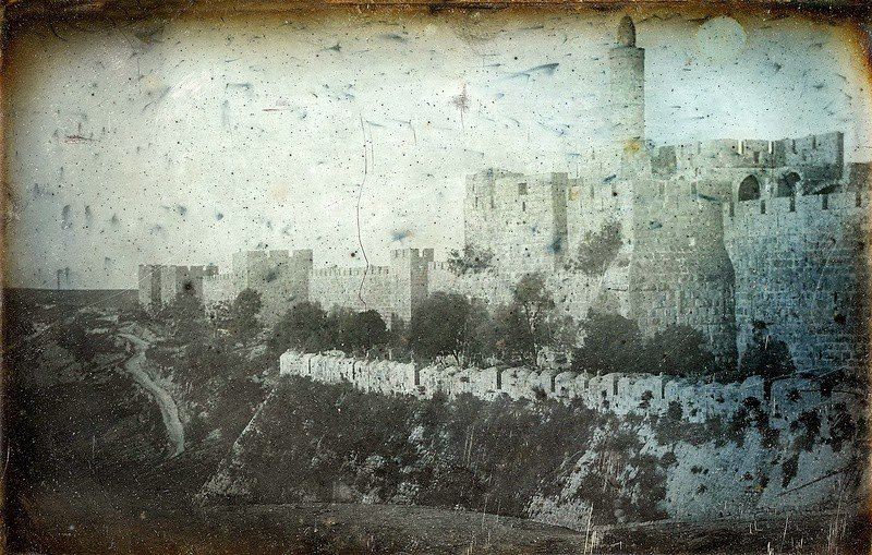 מגדל דויד- מבט מכיוון בריכת הסולטן